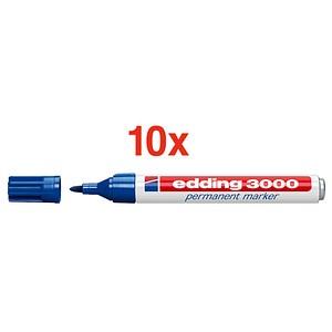 10 edding 3000 Permanentmarker blau 1,5 - 3,0 mm