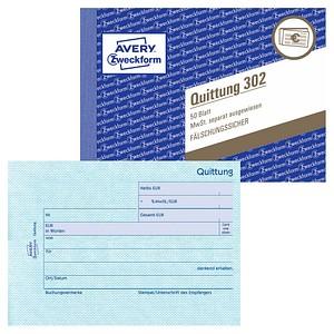 AVERY Zweckform Formularbuch 302 Quittung, MwSt. separat ausgewiesen
