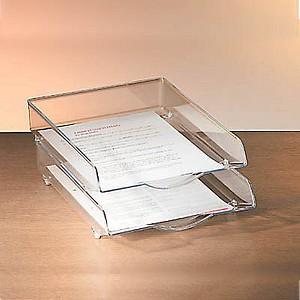 VOSS Briefablage glasklar DIN A4