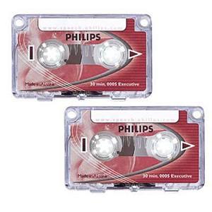 2 PHILIPS Diktierkassetten 2x 15 Min.