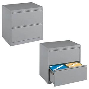 CP Hängeregistraturschrank silber 2 Schubladen
