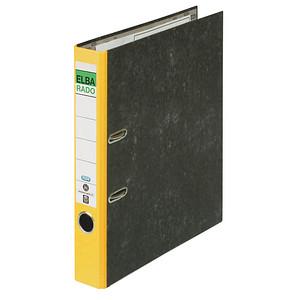 ELBA rado Wolkenmarmor Ordner gelb marmoriert Karton 5,0 cm DIN A4