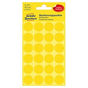 AVERY Zweckform Klebepunkte 3007 gelb Ø 18,0 mm