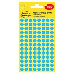 AVERY Zweckform Klebepunkte 3011 blau Ø 8,0 mm