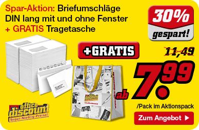 Briefumschläge + gratis Tragetasche