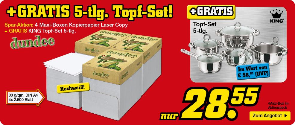 Kopierpapier + gratis Topf-Set